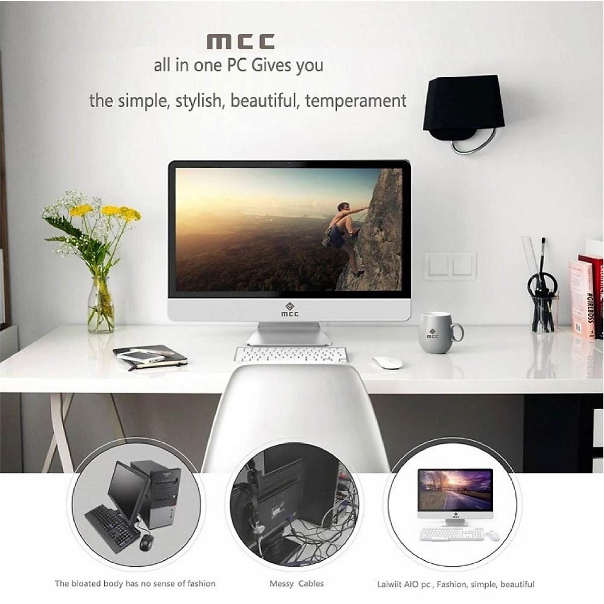 Bộ PC All in ONE (AIO) MCC9182 Home Office Computer CPU i3 9100/ Ram8G/ SSD240G/ Wifi/ Camera/ 22inch - Hàng Chính Hãng