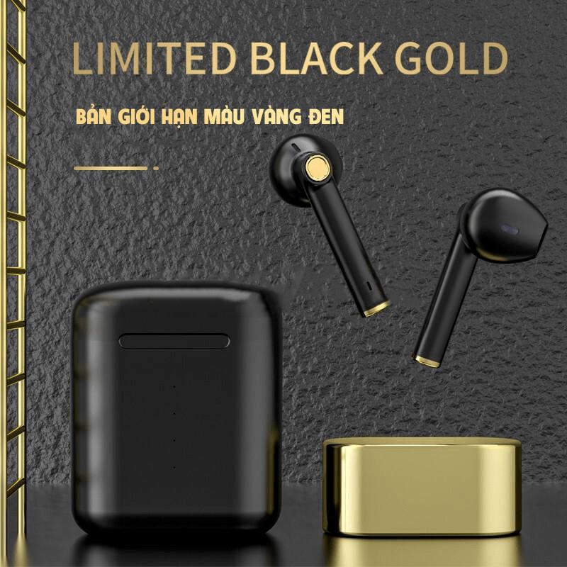 Tai nghe bluetooth  LIMITED BLACK GOLD, tai nghe bluetooth nhét tai.Tai nghe không dây bluetooth 5.0 cảm ứng chạm âm thanh nổi.Chống nước