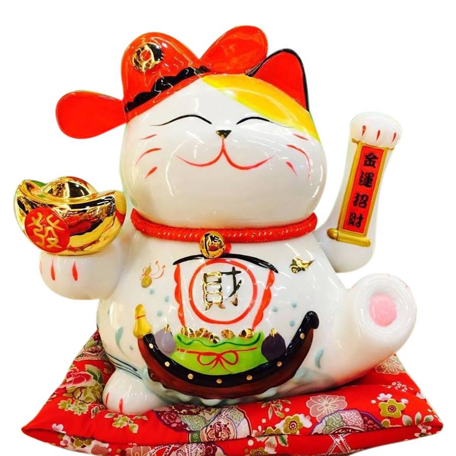 Mèo thần tài Lộc Tiến Vinh Hoa