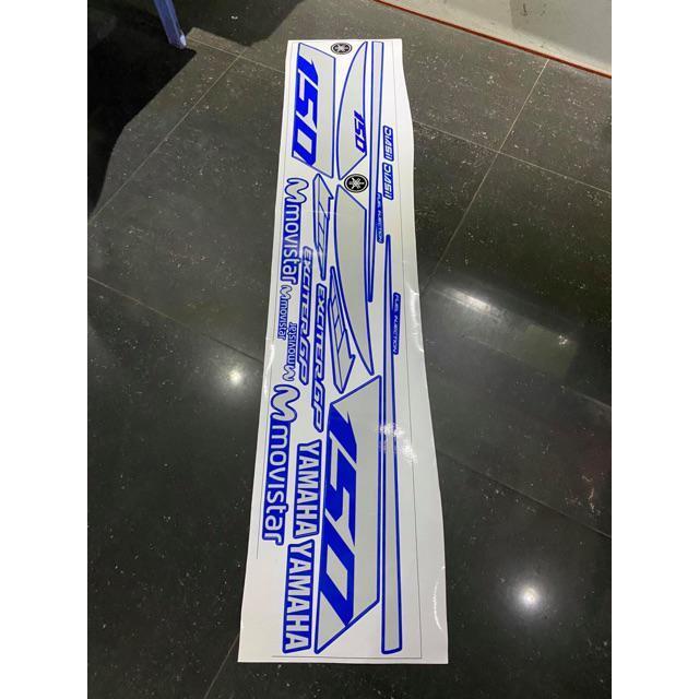 Tem rời mực in cao cấp dành cho xe máy Exciter 150 bạc xanh (bộ)