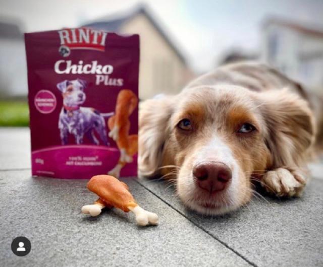 Rinti Treat xương canxi thịt gà cho chó / cún 225 GR