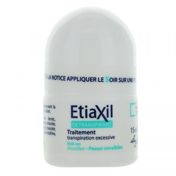 Lăn Khử Mùi Etiaxil Détranspirant Traitement Aisselles Peaux Sensibles 15ml (Dành cho da hỗn hợp, da nhạy cảm)