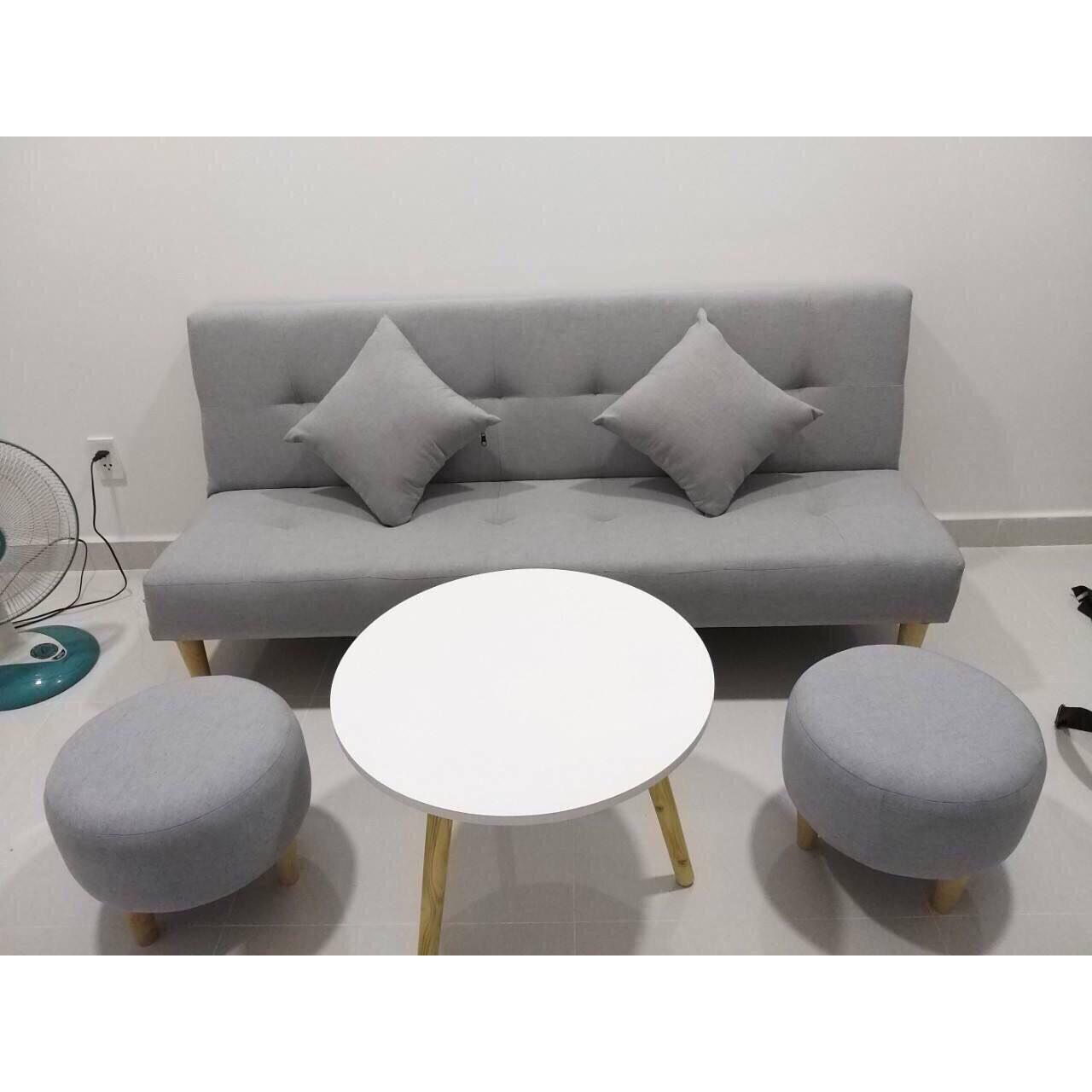 Ghế sofa giường Linco sofa bed SB17- Xám trắng