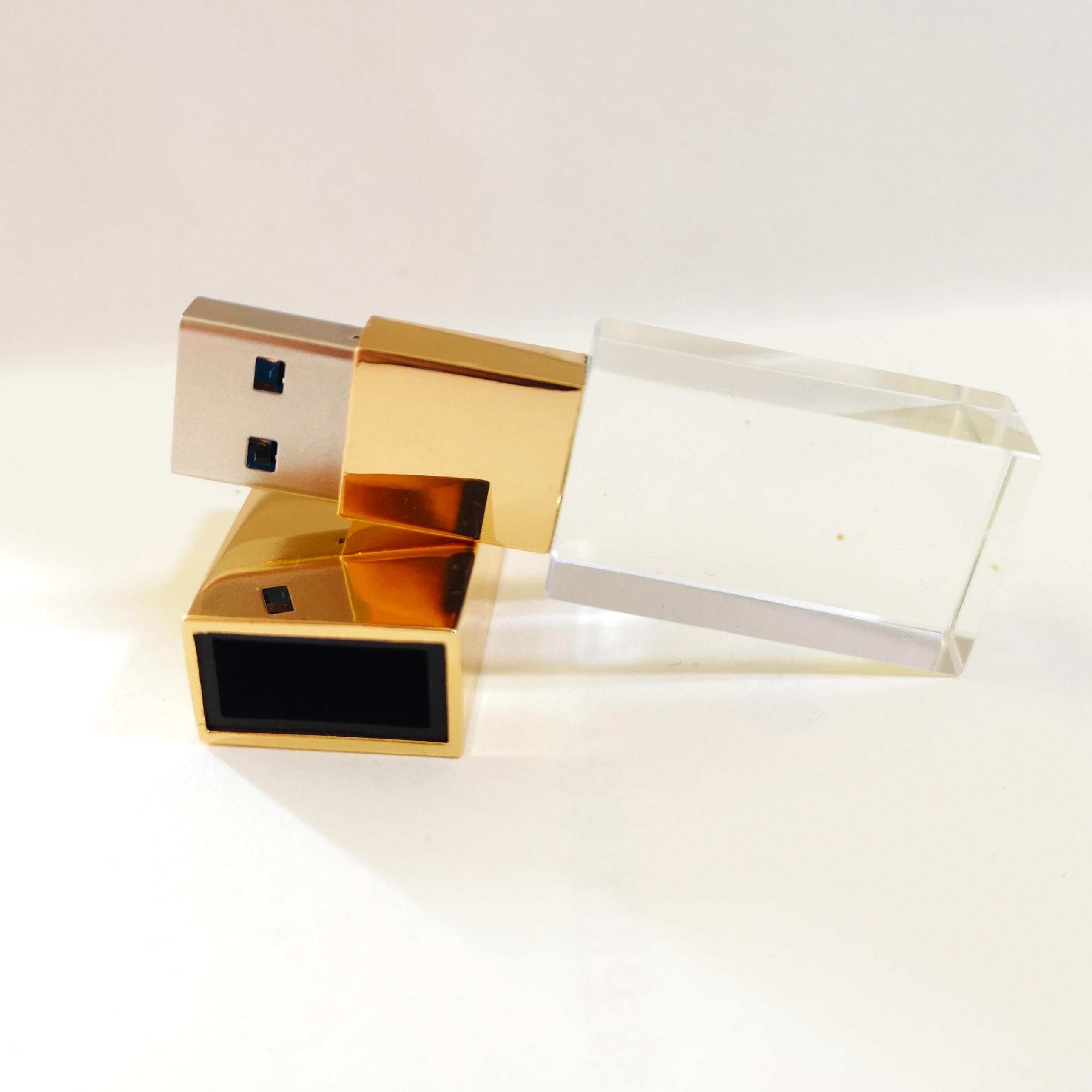 Màu vàng rực rỡ pha lê USB 32GB