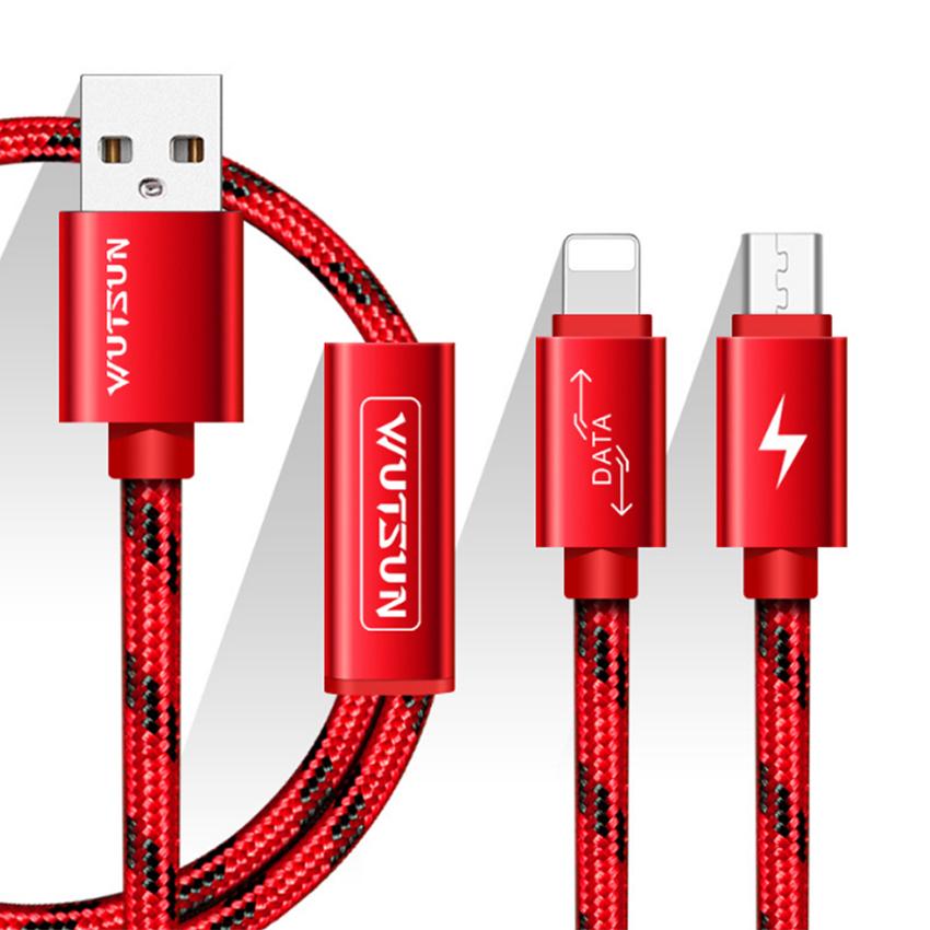 Dây Cáp Sạc Micro USB Và Lightning Wutsun PowerLine - Hàng Chính Hãng
