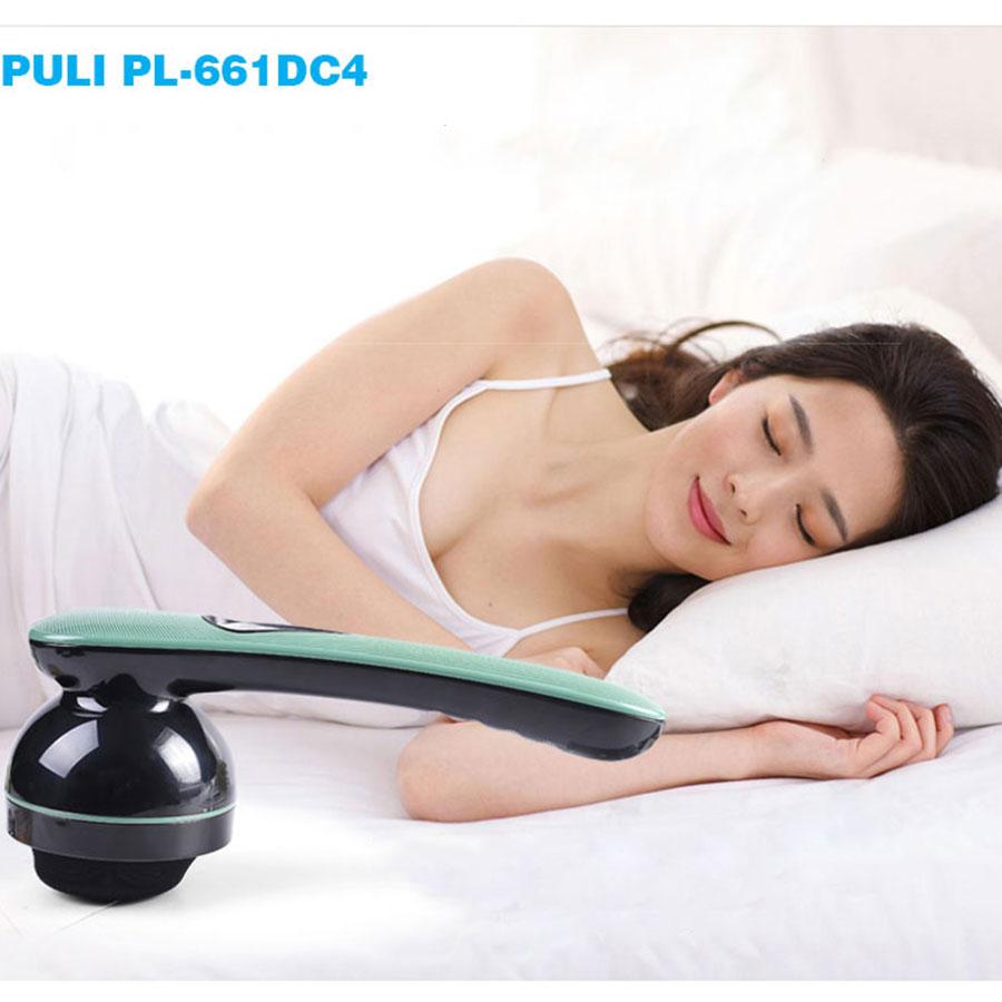 Máy massage cầm tay pin sạc 8 đầu hồng ngoại PULI PL-661DC4 - Điện tử