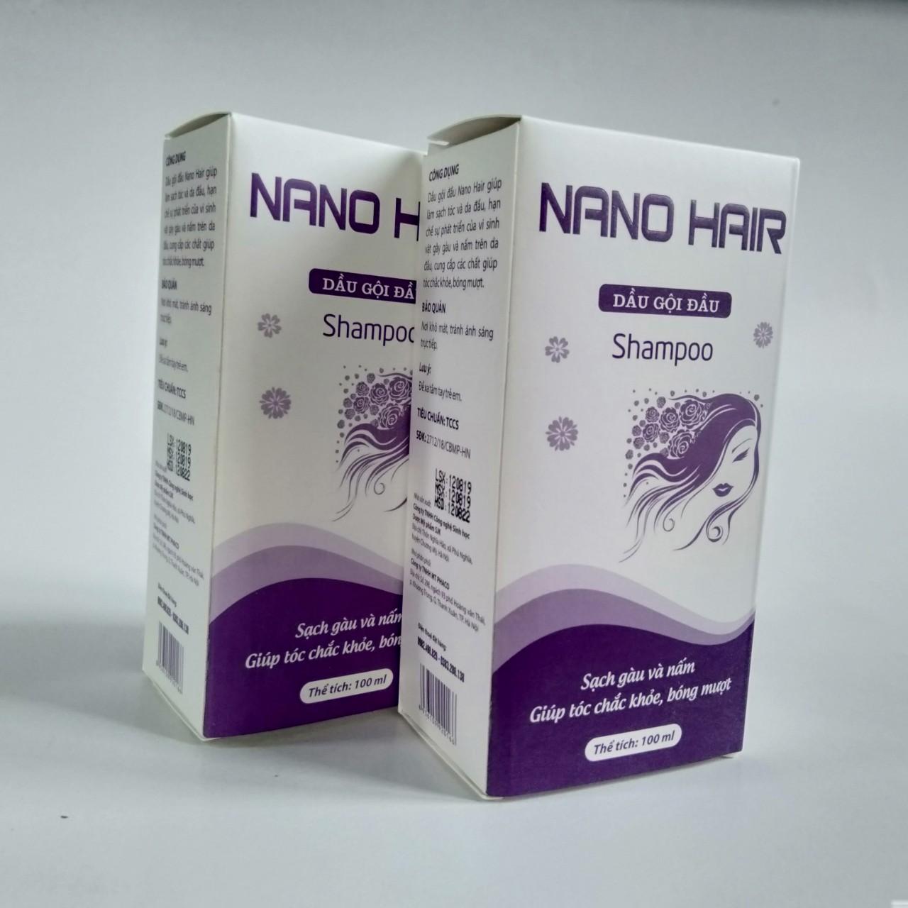 [COMBO 2 HỘP] Dầu gội NGỪA GÀU VÀ NẤM DA ĐẦU NANO HAIR chai 100ml- Hạn chế sự phát triển của vi sinh vật gây gàu và nấm trên da đầu. Cung cấp các chất giúp tóc chắc khỏe