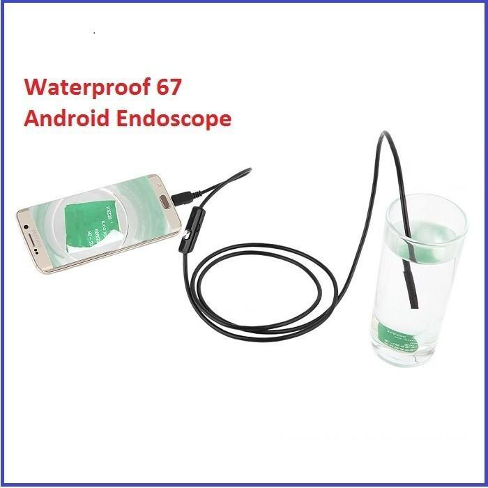 Camera nội soi siêu rẻ 7mm-2m - Chống nước IP67 (Đen)