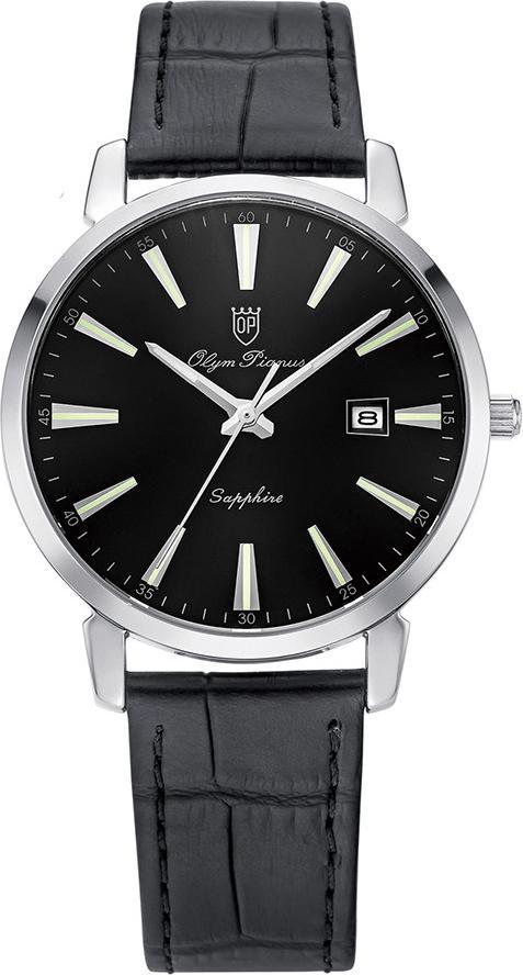 Đồng hồ nam dây da Olym Pianus OP130-03MS-GL đen