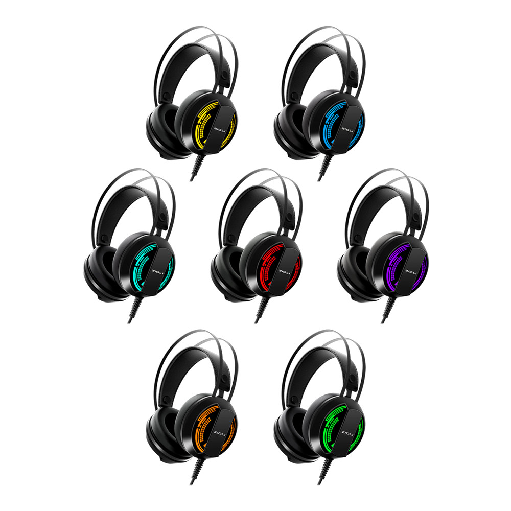 Tai nghe chụp tai cao cấp Zidli ZH2S (7 màu led) - Hàng Chính Hãng