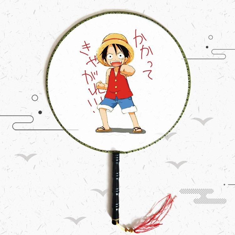 Quạt tròn cổ trang One Piece Đảo hải tặc anime cầm tay