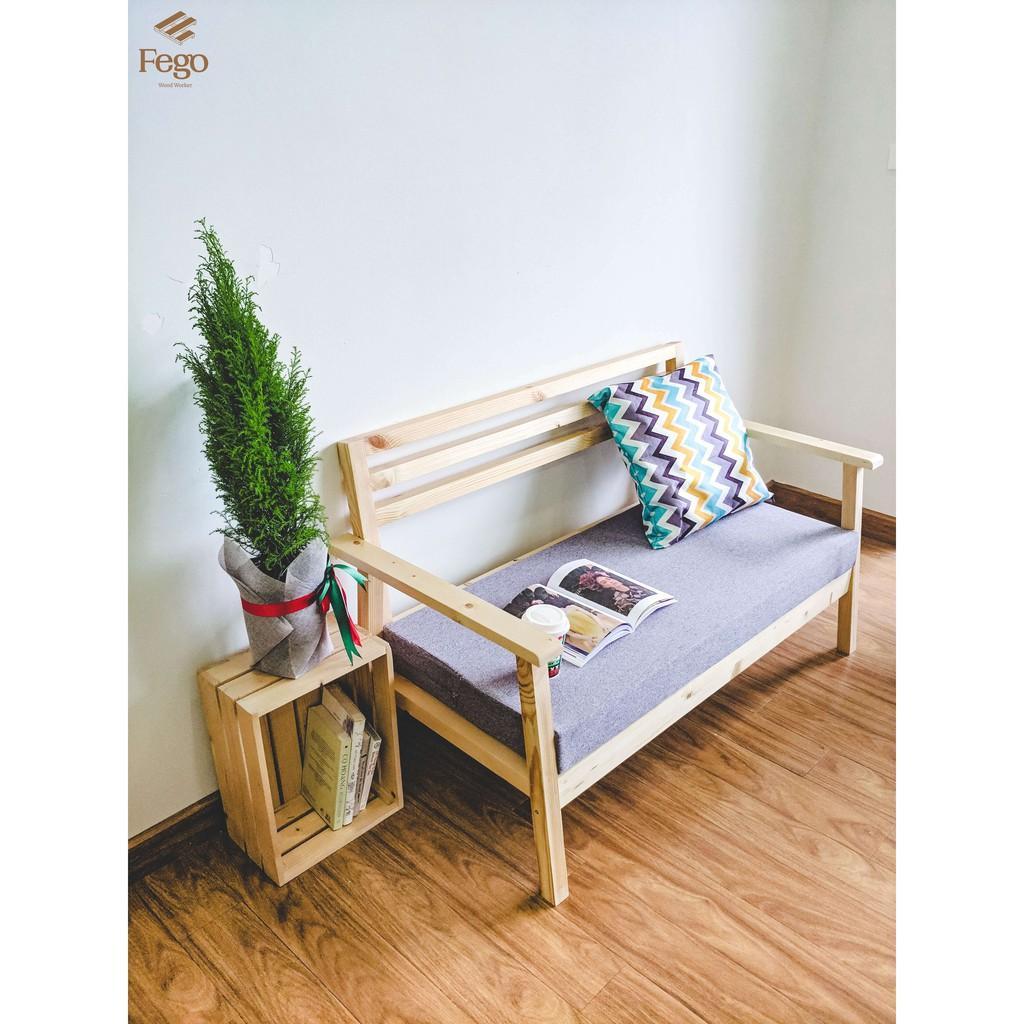 Ghế sofa phòng khách / Ghế sofa gỗ tiếp khách kèm đệm