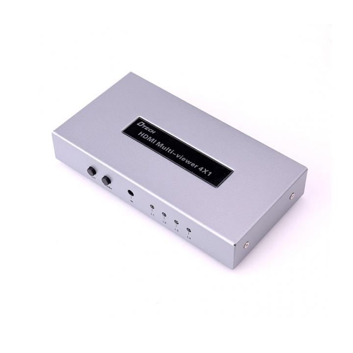 Bộ gộp HDMI 4 Vào 1 Ra  DTECH DT-7056A - Hàng Chính Hãng