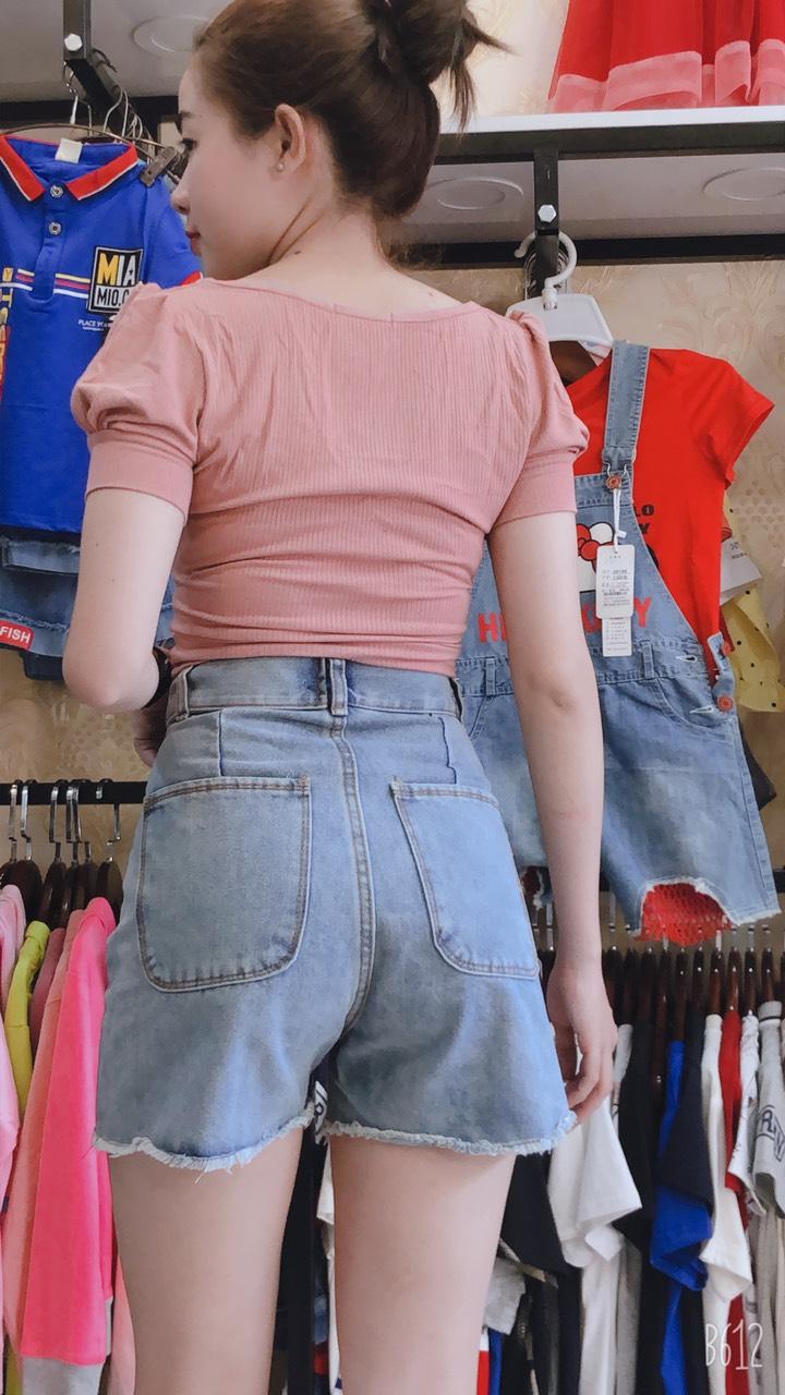 Quần Shorts Jean Nữ Lưng Cao Qua Rốn Tôn Dáng Cực Đẹp JNLC02