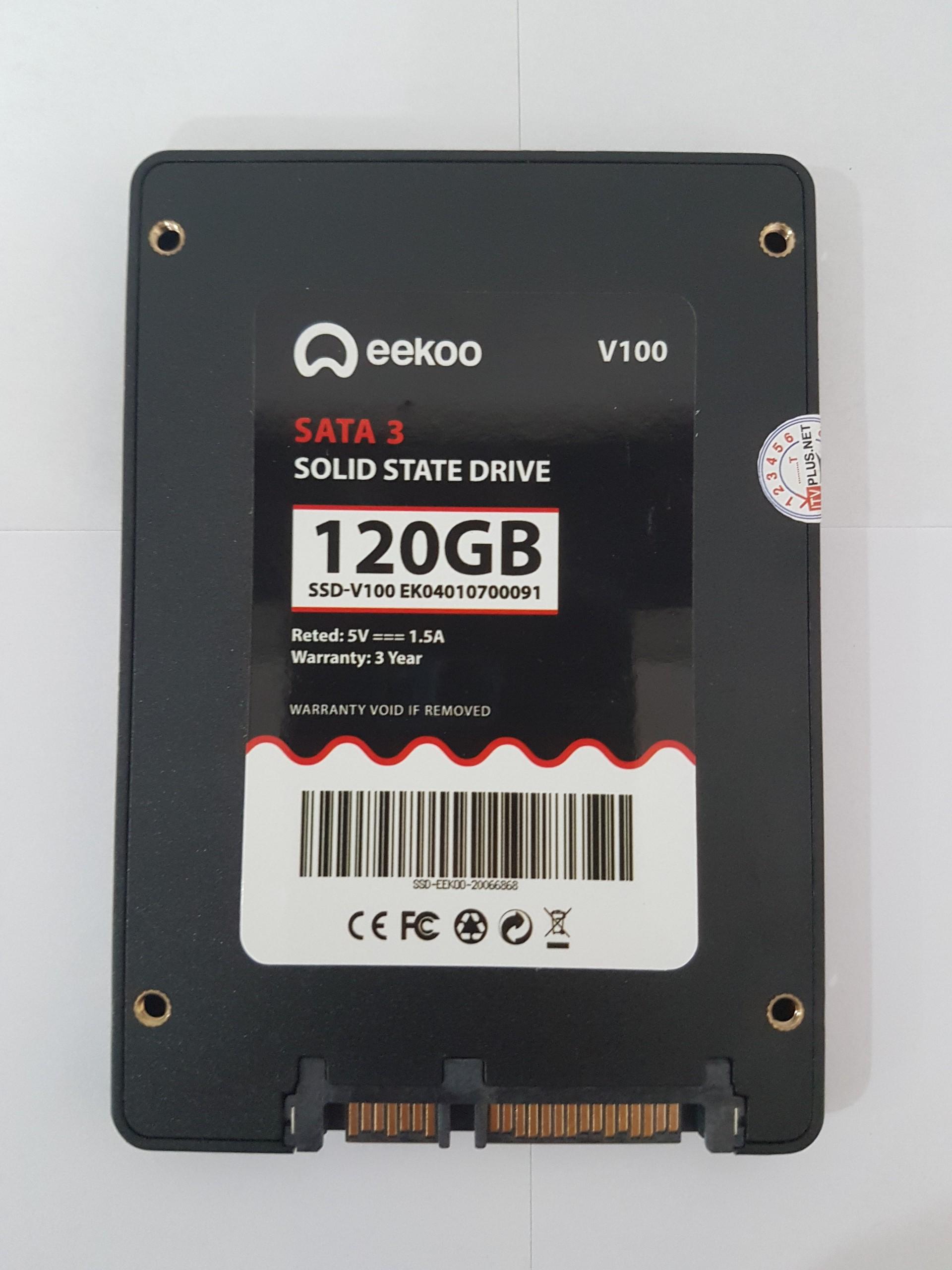 """Ổ cứng SSD 120Gb EEKOO Sata III, 6 Gb/s, 2""""5 Inch - Màu Đen - Công nghệ 3D MLC NAND - Hàng Chính Hãng"""