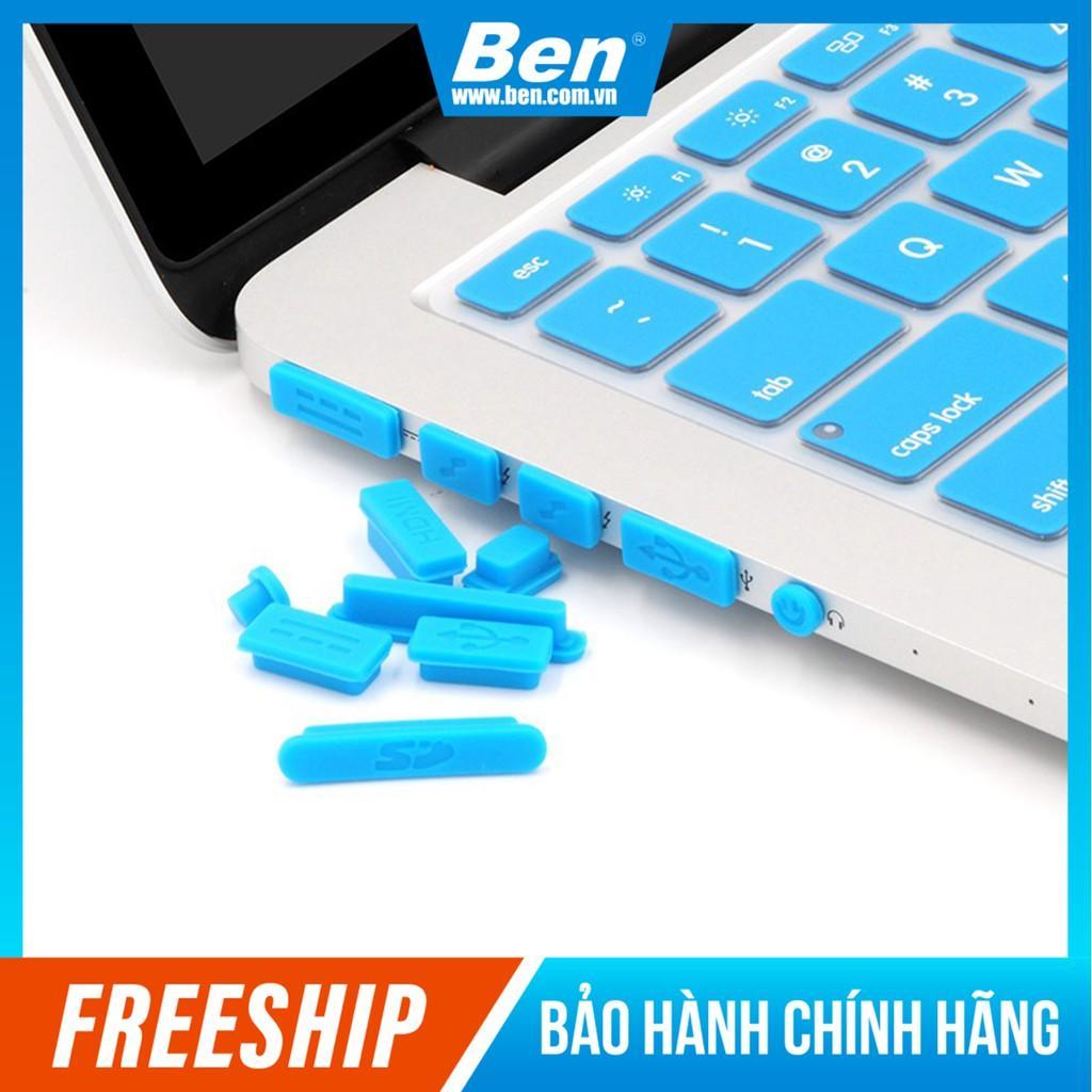 Set 9 Nút Silicon Chống Bụi Cho Ổ Cắm Laptop Notebook Macbook - Màu Ngẫu Nhiên