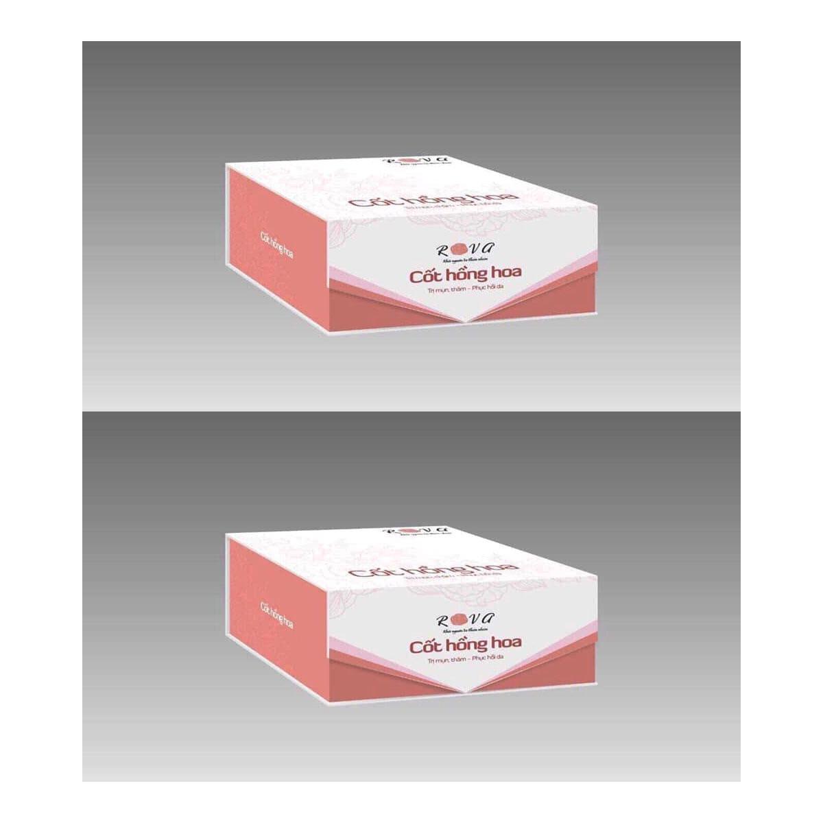 Kem giảm mụn, thâm cốt hồng hoa Rova (combo 2 lọ)