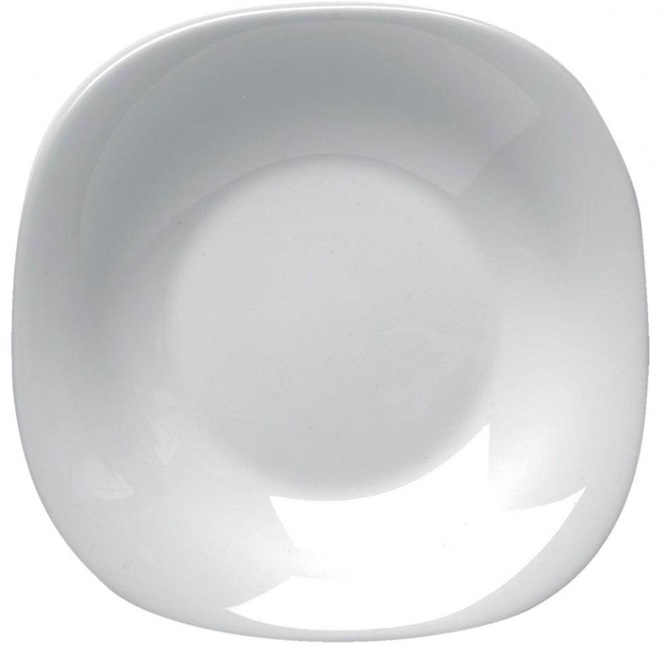 Combo 4 đĩa hình vuông vê cạnh sâu lòng cỡ 23 cm x 23 cm - Sản xuất tại Tây Ban Nha