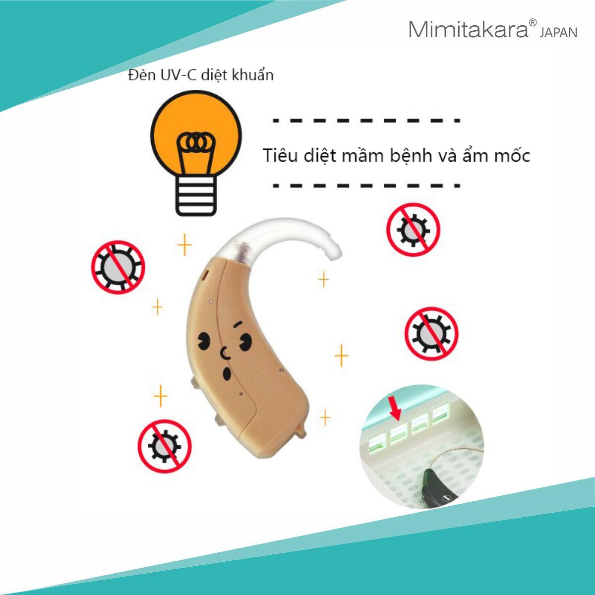Máy sấy, diệt khuẩn UV-C, thiết kế cầm tay Mimitakara. Nguồn USB 5V 2A UP-221(Hàng nhập khẩu)