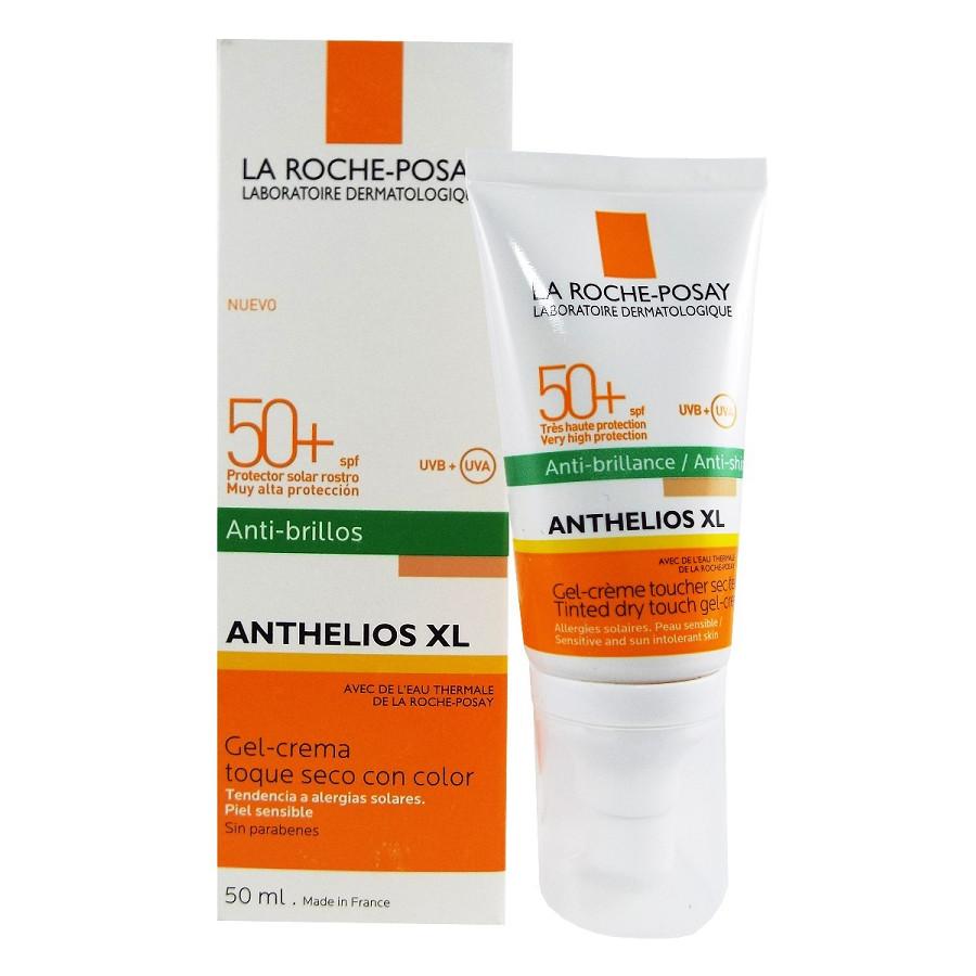 Kem Chống Nắng Kiểm Soát Dầu Có Màu La Roche-Posay Anthelios XL Tinted Dry Touch Gel-Cream SPF 50+ UVB & UVA 50ml