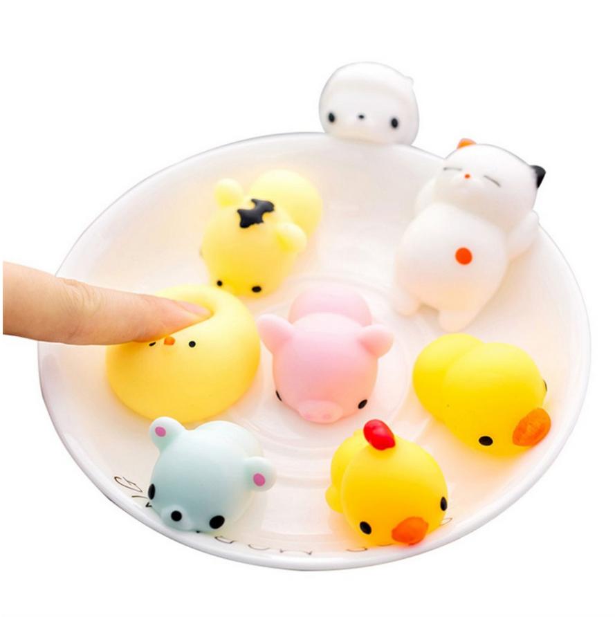 [COMBO 5 chiếc] Mô hình thú nhún độc đáo cho bé - Chất liệu mềm dẻo an toàn, kích thước 4.5cm - Giao màu ngẫu nhiên
