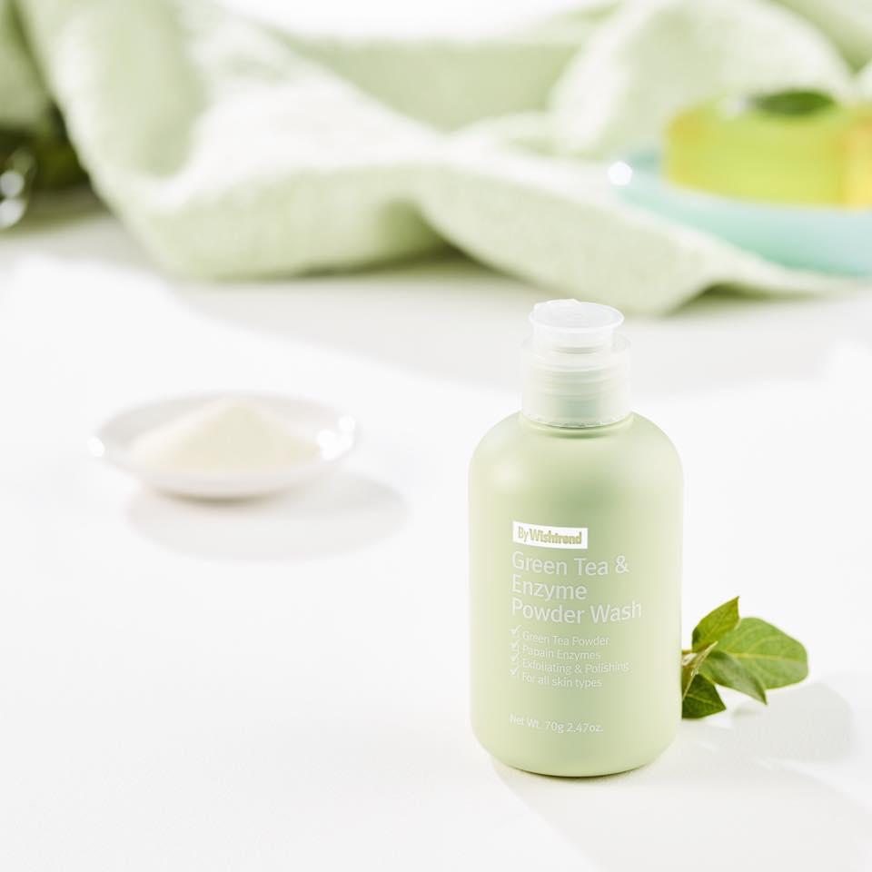 Bột Rửa Mặt Trà Xanh By Wishtrend Green Tea & Enzyme Powder Wash 70g