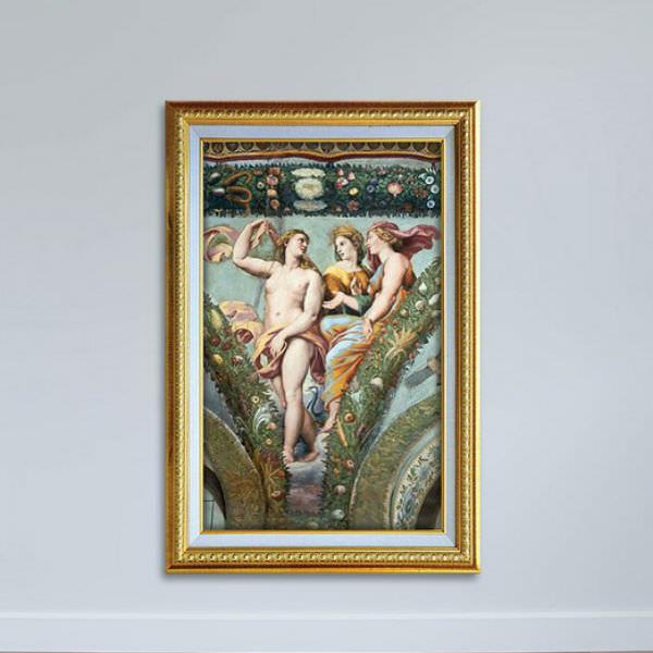 Tranh Nghệ Thuật Thời Phục Hưng Phong Cách Sơn Dầu Canvas W1148 (40 x 60 xm)