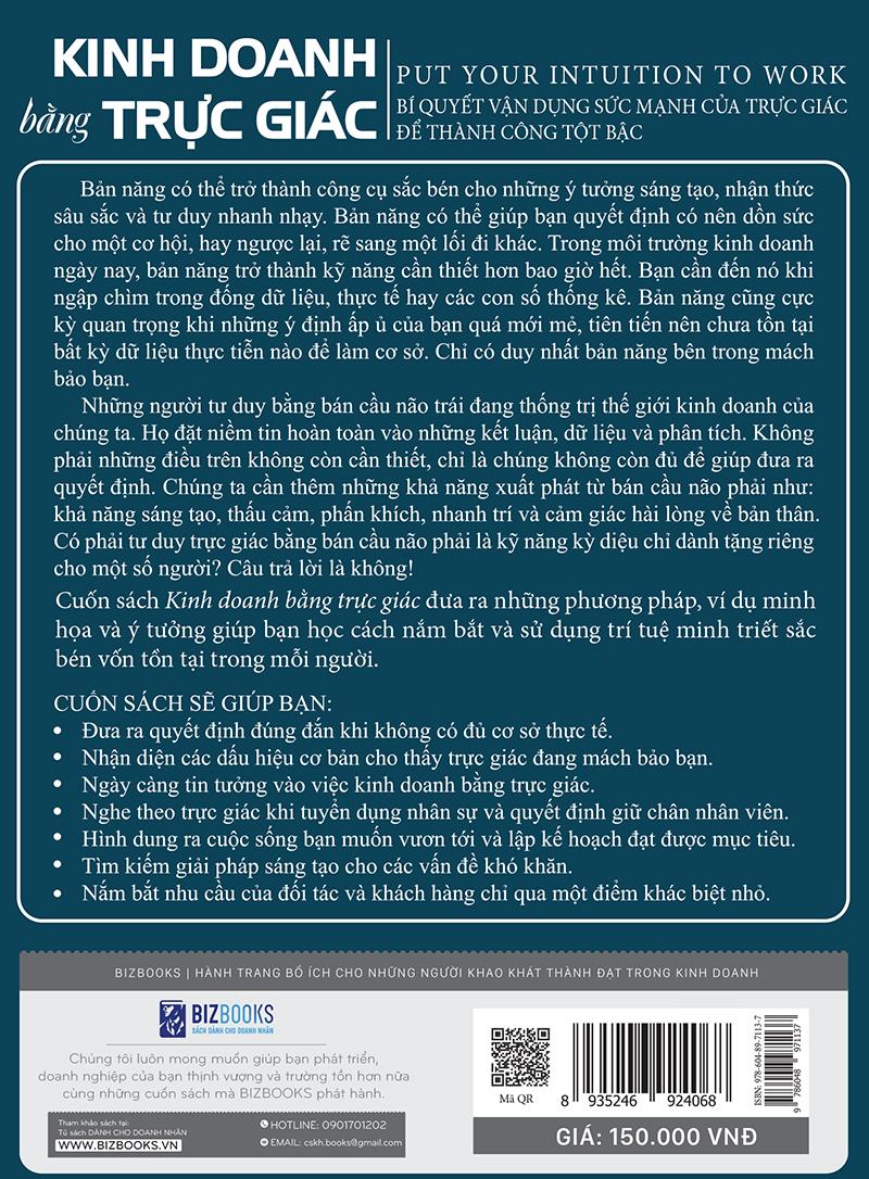 Kinh Doanh Bằng Trực Giác - Bí Quyết Vận Dụng Sức Mạnh Của Trực Giác Để Thành Công Tột Bậc (Tặng Kèm Cây Viết Galaxy)