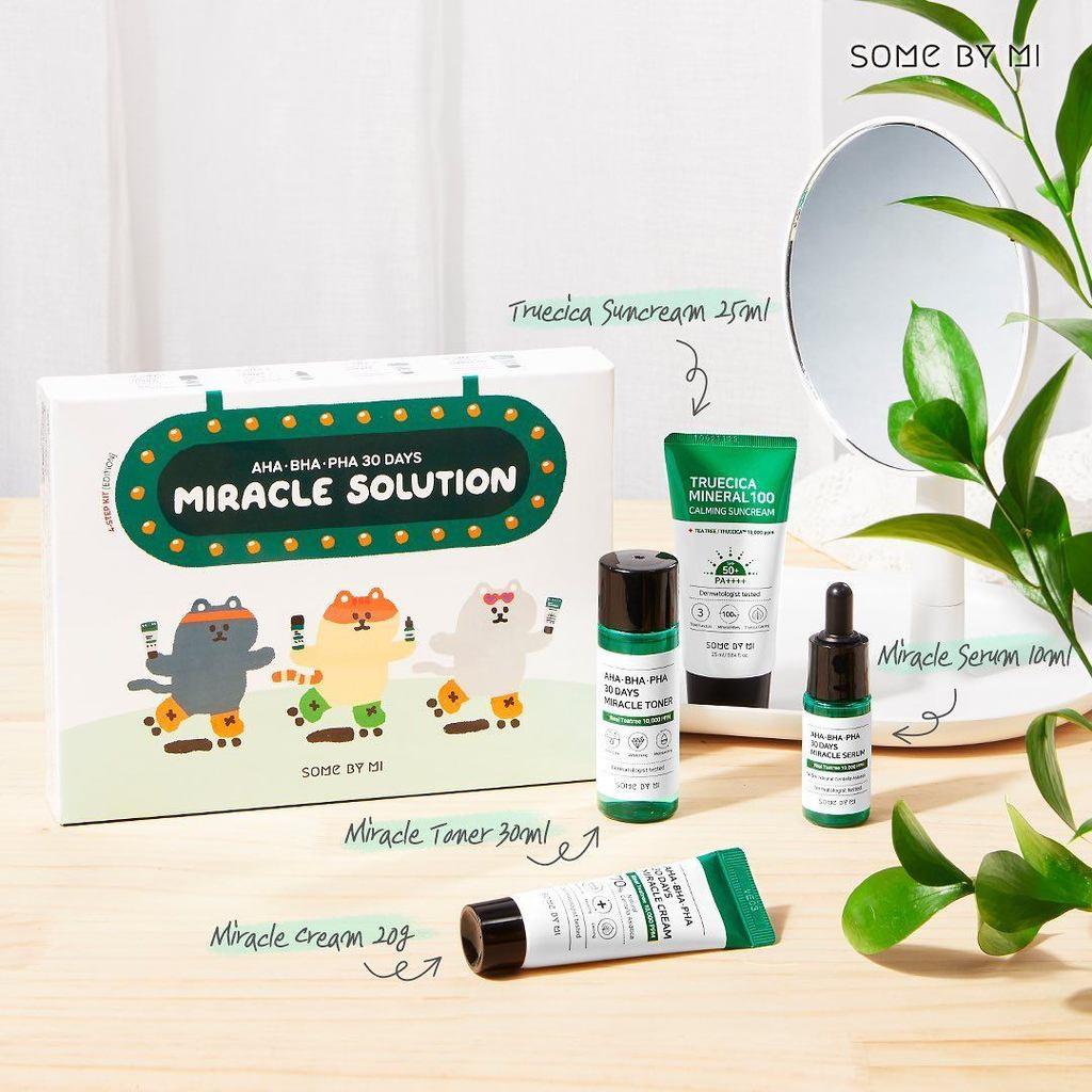 Bộ KIT Dưỡng Da Ngừa Mụn Some By Mi AHA-BHA-PHA 30Days Miracle Solution 4-Step Kit-Edition