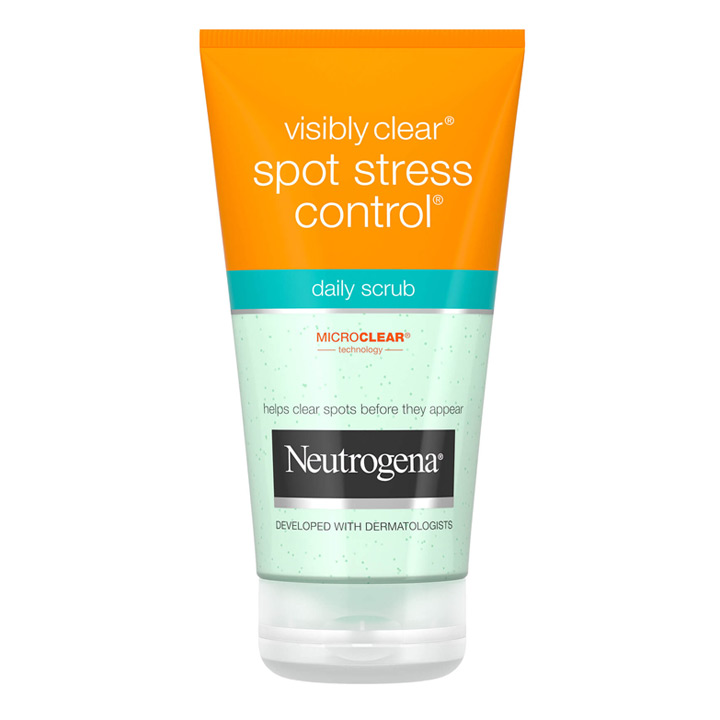 Tẩy da chết ngừa mụn Neutrogena Visibly Clear Spot Stress Control Daily Scrub 150ml
