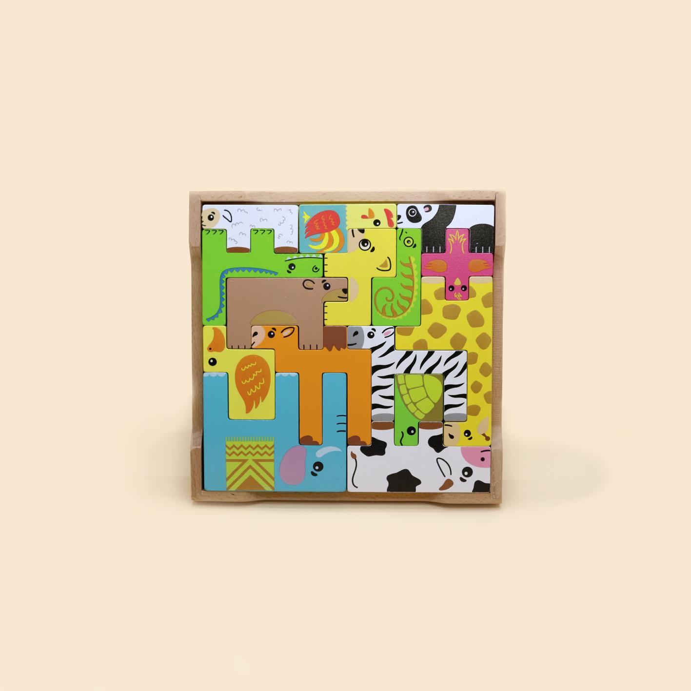 Đồ Chơi Ghép Gỗ Con Vật - Wooden Animal Puzzle S20