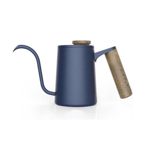 Bình rót cafe vòi dài màu đen tay cầm gỗ 600ml