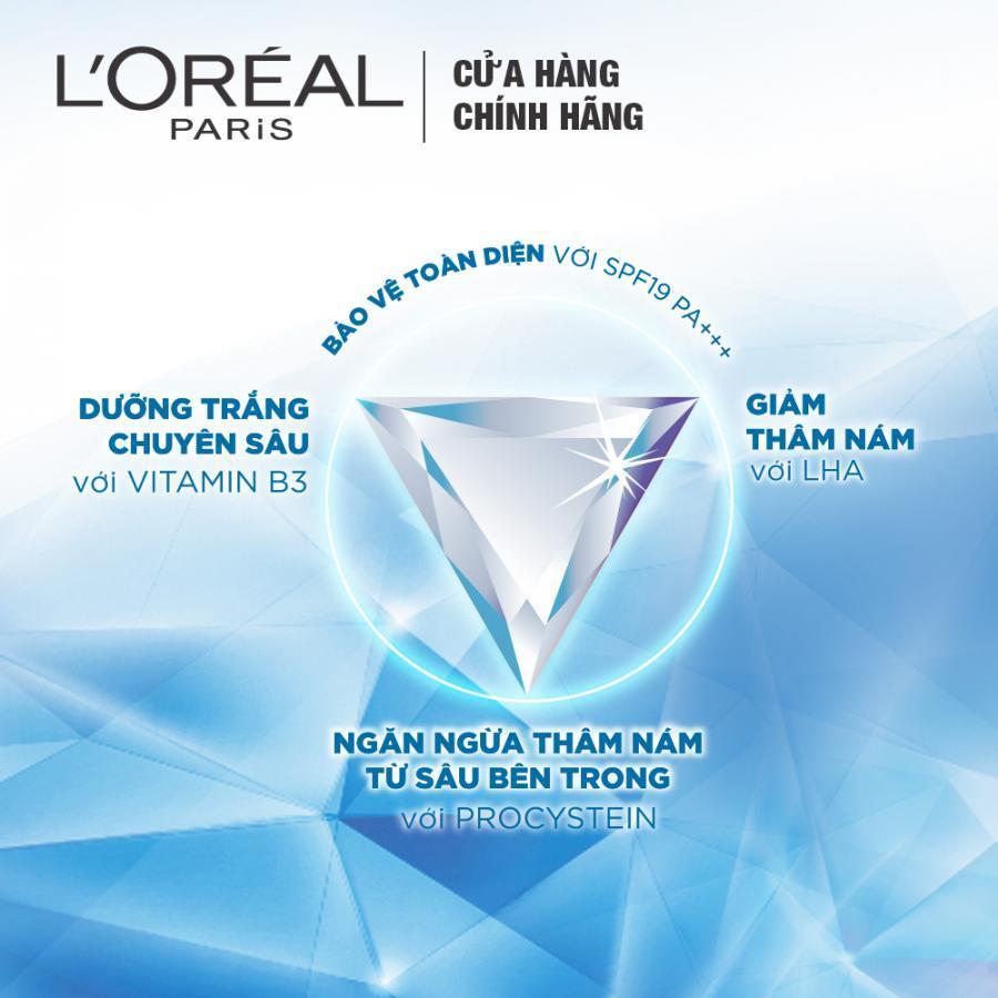 Kem Dưỡng Ngày Giảm Thâm Nám Và Trắng Mịn - L'Oreal White Perfect Clinical SPF19 PA+++ (50ml)