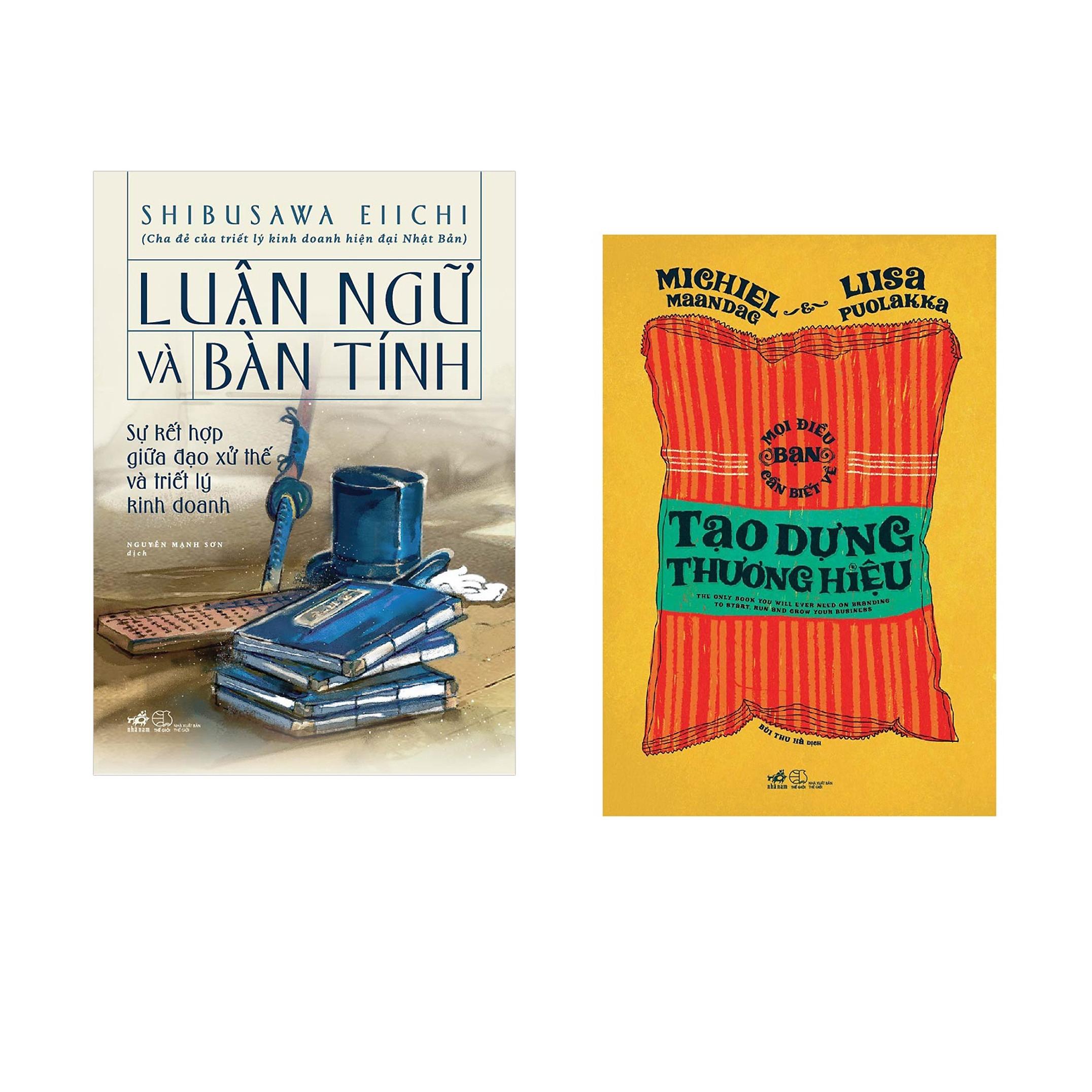 Combo 2 cuốn sách: Luận ngữ và bàn tính (bìa cứng)  + Mọi điều bạn cần biết về tạo dưng thương hiệu