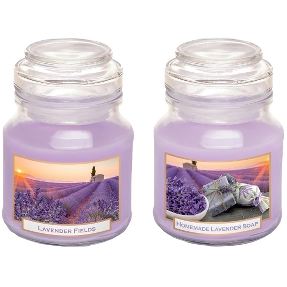 Hũ nến thơm tinh dầu Bartek Lavender Fields 130g QT06656 - cánh đồng oải hương (giao mẫu ngẫu nhiên)