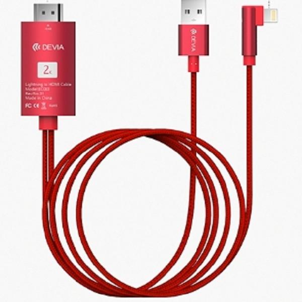 Cáp  chuyển đổi HDMI sang Lightning 2M - Hàng chính hãng DEVIA