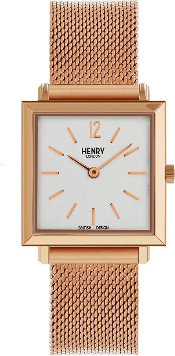 Đồng Hồ Nữ Dây Thép Henry London HL26-QM-0264 HERITAGE SQUARE (26mm) - Đồng