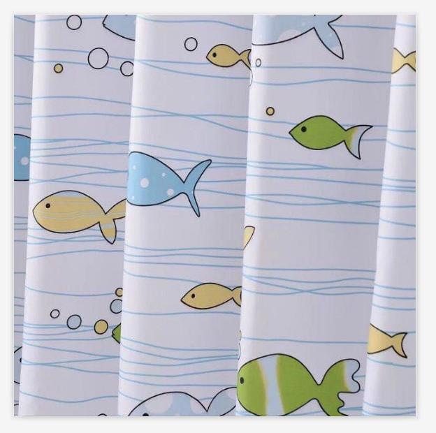 Rèm Phòng Tắm / Rèm Cửa Sổ Trằng Họa Tiết ĐẠI DƯƠNG 180cm X 180cm Loại 1