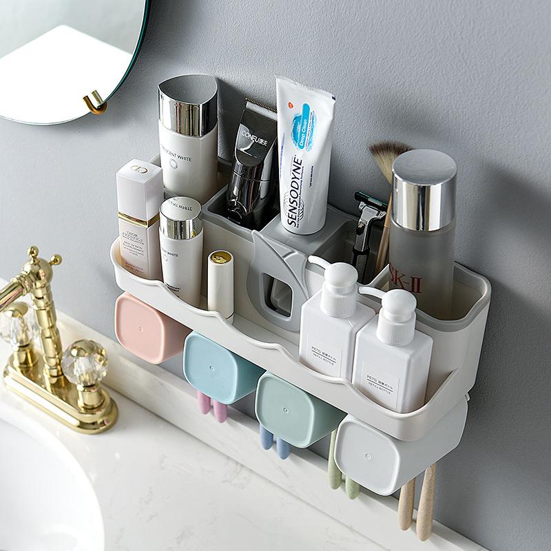 Hộp đựng kem đánh răng tự động và đồ dùng phòng tắm