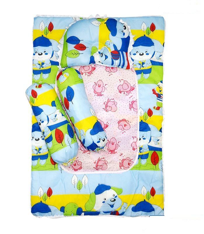 Bộ Nệm+gối ka tê kèm lót chống thấm Sơ Sinh Cho Bé_ngẫu nhiên(0-12thang)1 nệm dài 80cm x 50cm cho bé , 1 gối nằm dài 30cm x 20cm và 2 gối ôm dài 35cm