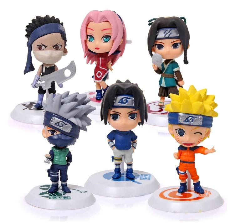 Mô Hình - Bộ 06 Nhân Vật Naruto ( Mẫu 02 )