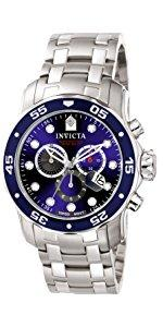 Invicta Men s Pro Diver Quartz Diving Watch with Stainless-Steel Strap, Silver, 22 (Model 22019) 10