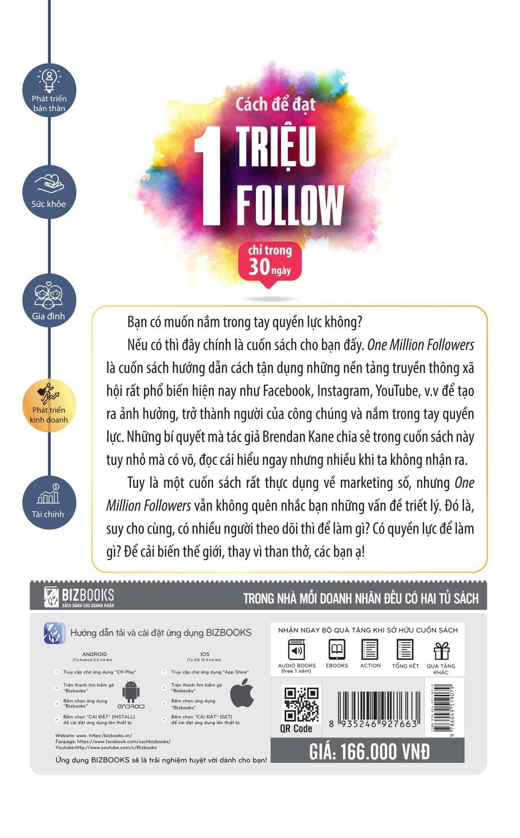 Cách Để Đạt 1 Triệu Follow Chỉ Trong 30 Ngày (Bí Kíp Tăng Tương Tác Các Mạng Xã Hội Ở Việt Nam) Tặng BookMark ChipiHouze (Mẫu Ngẫu Nhiên)
