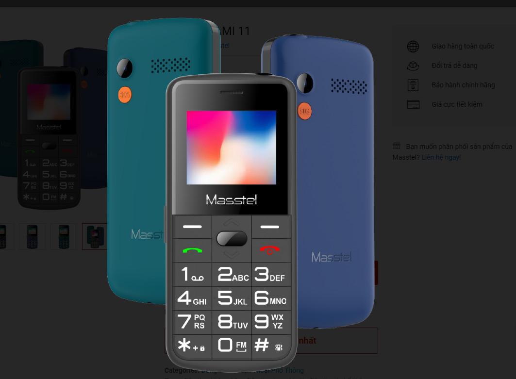 Điện thoại di động Masstel Fami 11 - Hàng chính hãng _ Màu xanh dương
