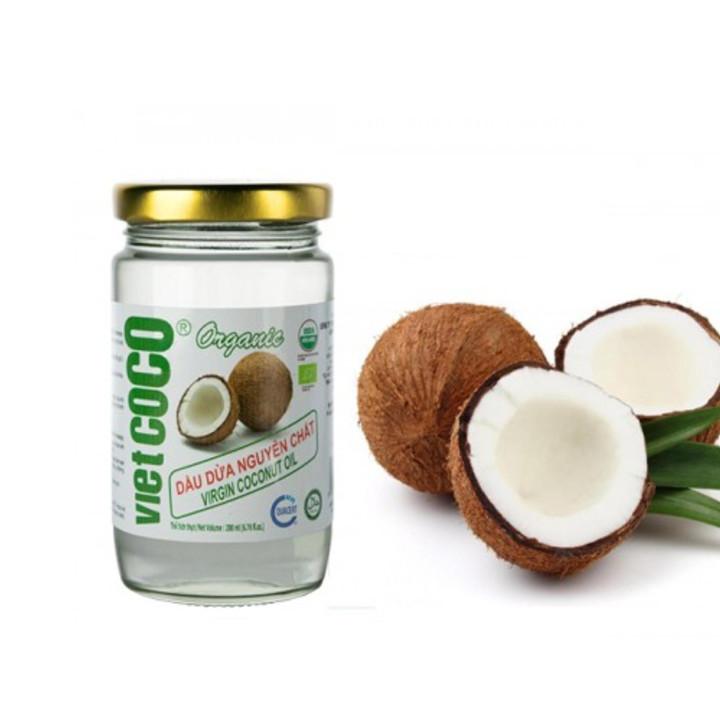 Dầu dừa hữu cơ nguyên chất ép lạnh VietCoCo 200ml