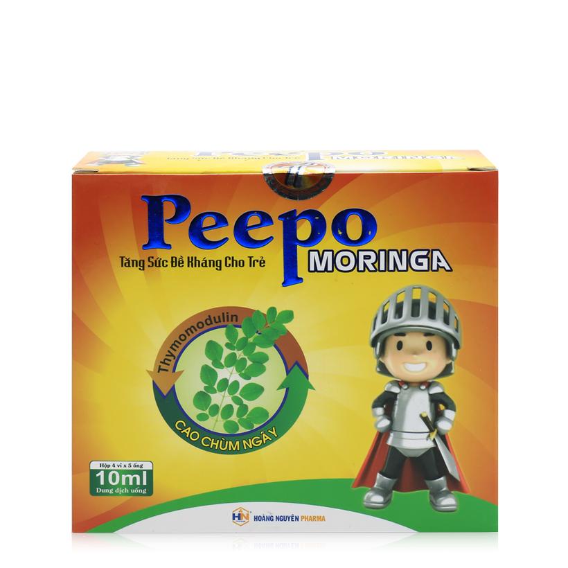 Thực phẩm bảo vệ sức khỏe Peepo Moringa chứa cao chùm ngây tăng cường đề kháng cho trẻ