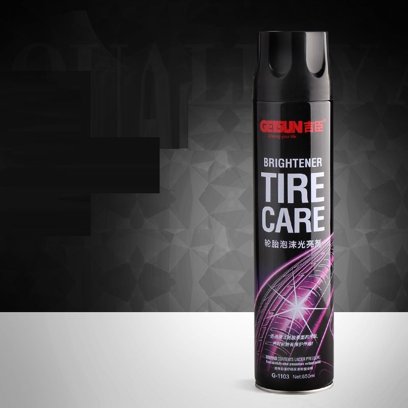 Chai xịt bọt rửa lốp xe chuyên dụng 650ml cho ô tô xe máy