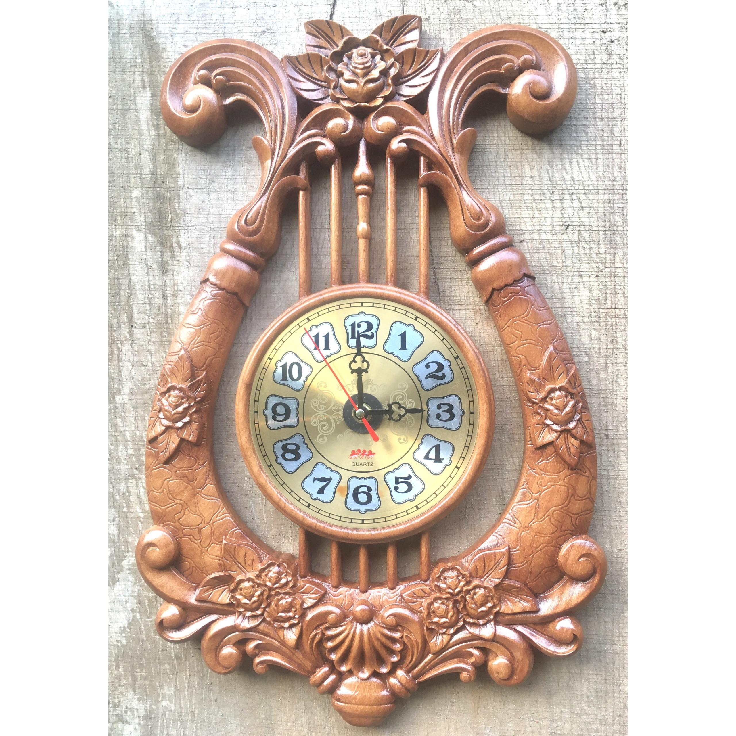 Đồng hồ gỗ GÕ ĐỎ, HƯƠNG ĐỎ kim trôi