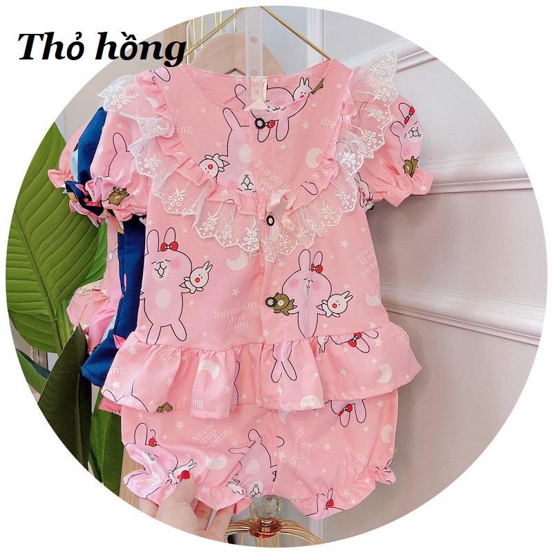 Bộ quần áo bé gái thô bèo quần bồng 7 mầu XHN503