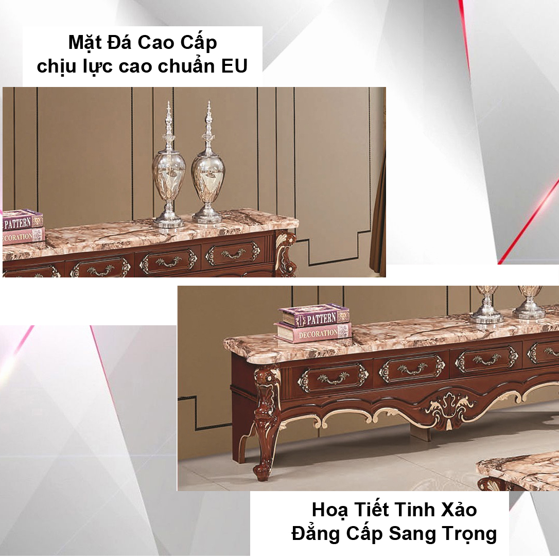 Kệ Tivi Mặt đá AZP-TV305B / Dòng Cao Cấp - Hàng Nhập Khẩu